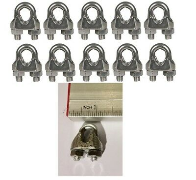 Cable Clamps 316 U-bolts Galvanized Wire Rope Clamps Clips 10 Pack