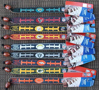 NFL Genuine Leather Fan Bracelet Wristband TEAM COLOR ( All Teams ) - Gamewear Leather Wristband