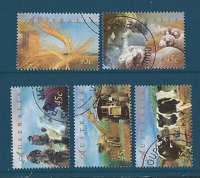 AUSTRALIA 1998 FARMING SET OF 5 FINE USED, CTO