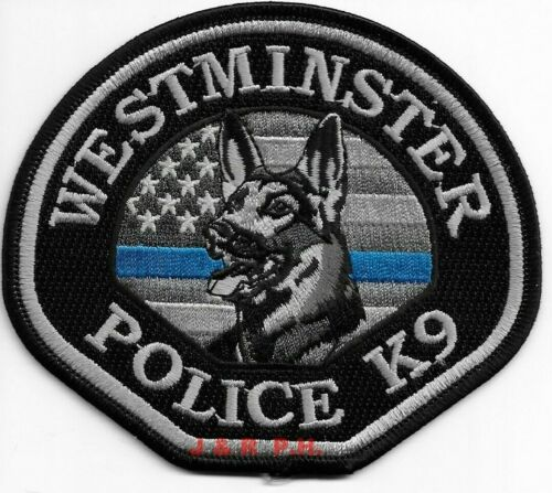 "*NEW*  Westminster K-9, Colorado (4.5"" x 4"")  shoulder police patch (fire)"