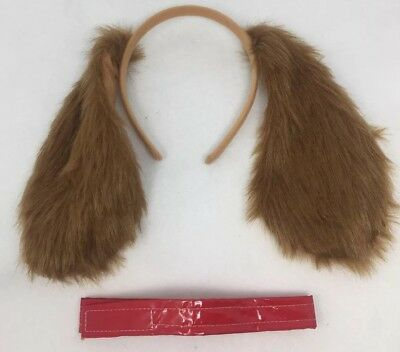 Brown Dog Animal Kit Plush Ears Collar Adult Child Costume Accessory Set NEW
