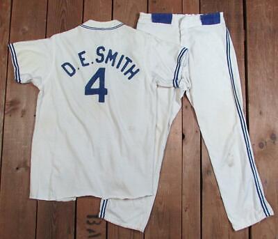 Vintage 1950er Jahre Imperium Nyc Baseball Kostüm Reißverschluss Vorne Shirt - Vintage Baseball Kostüm