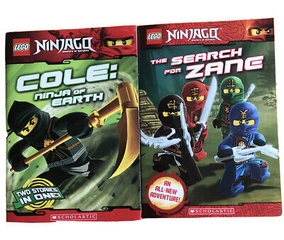 Lego Ninjago Lot Of 2 Scholastic Books, Search For Zane & Cole: Ninja Of Earth