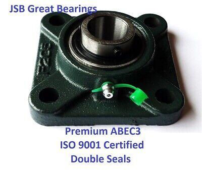 Premium Ucf207-22 Double Seals Abec3 Square Flange Bearings 1-38 Bore Ucf207 22