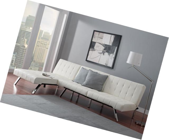 DHP Emily Chaise Lounger Vanilla Chair 5232198 029986202413 eBay