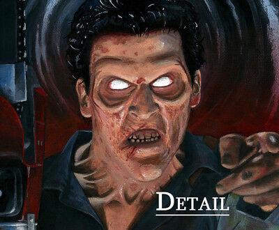 Evil Dead 2 Ash Recruitment Poster Halloween Horror Fan Art Painting Print 16x20