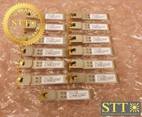 Glc-t-oem Cisco Compatible Sfp 1000 Base-t 10/100/1000m Copper Trncvr(lot Of 13)