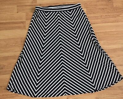 Torrid Womens Black And White Striped Maxi Skirt Plus Size 4X
