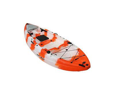 Angler Fishing Kayak Package - Eddy Gear Stingray JR Premium Fishing Kayak with Angler Kayaking Package (9' 4