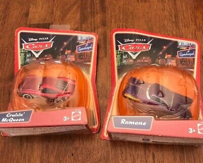 2 Disney Pixar Cars: HALLOWEEN PUMPKIN RAMONE/CRUISIN' McQueen Supercharged