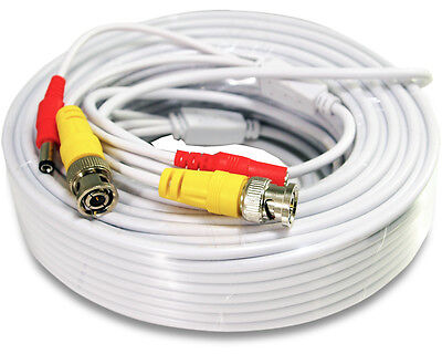 50 Ft Power & Video Pre-made Ready-Made Siamese Cable for CCTV Security Camera