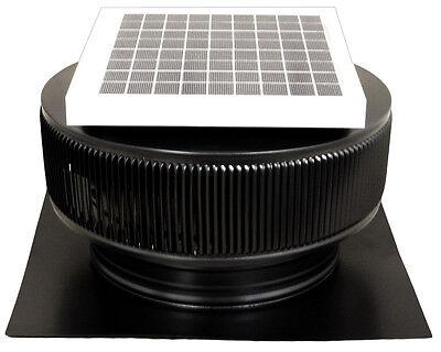Aura Solar Fan 10 Watts 740 Cfm Roof Vent 12 In Exhaust Active Ventilation Black