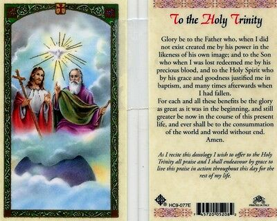 Prayer Cards Ebay   To The Holy Trinity Who Created Me By His Power Hc9 077E
