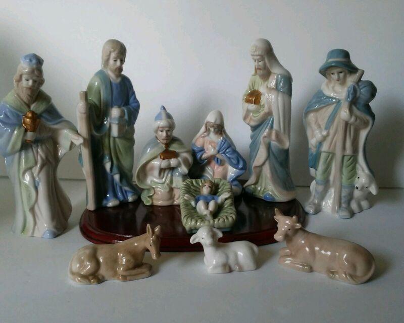 """7"""" Nativity Set  11- Piece Christmas Fantasy"""