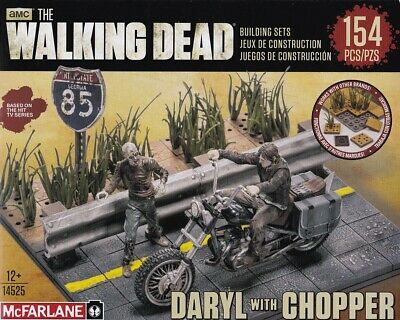 McFarlane Toys The Walking Dead Building Set - Daryl with Chopper