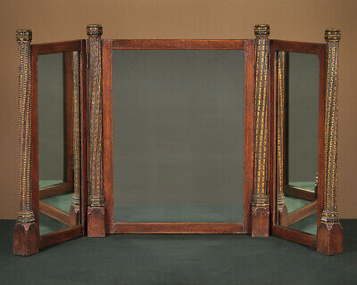 Early 20th.c. Gothic Carved Oak Dressing Table Mirror c.1930.