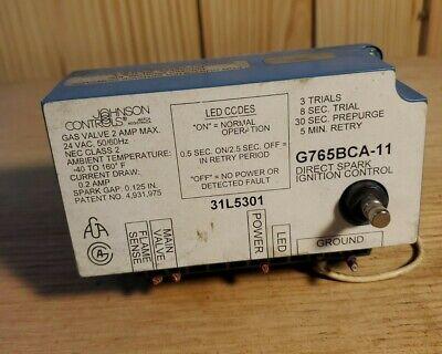 Johnson Controls Direct Spark Ignition G765bca-11 31l5301