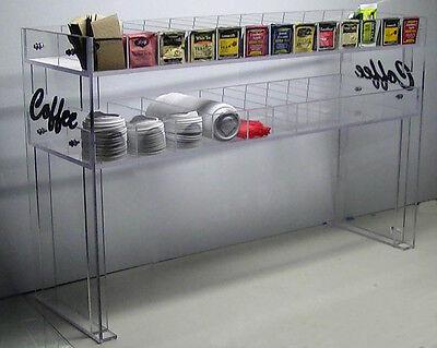 Coffee Counter Condiment Rack Equipment Cup Lid Display Tea 24 Dispenser Caddy