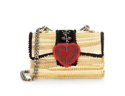 Kooreloo Divine Bijoux Fabric Heart Clutch With Guitar Strap