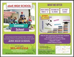 Earn/ Upgrade High School Credit in this Summer