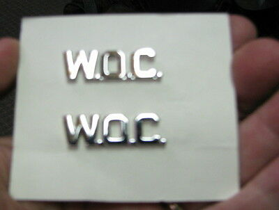 Army Aviation Warrant Officer Candidate ( WOC) brass insignia (LOC = Gray BK Cs)