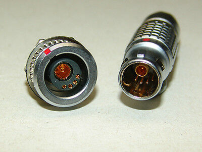 LEMO Größe 2B 1-Codierter Stecker+ Buchse 4 Pole + Koax FGG/EGG.2B.804