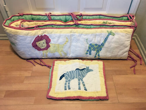 Pottery Barn Kids Jungle Safari Animal Crib Bumper & Nursery Pillow Sham