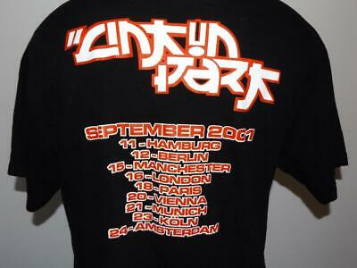 Rare 2-Sided Linkin Park 2001 Hybrid Theory European Tour Concert L/M T-Shirt