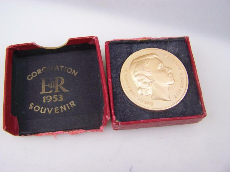 Coronation souvenir boxed coin Queen Elizabeth II Nat.Playing Fields Assoc. 3075