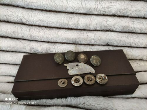 Vintage, old, rarity, antiques, German buttons and body badge from the WW2