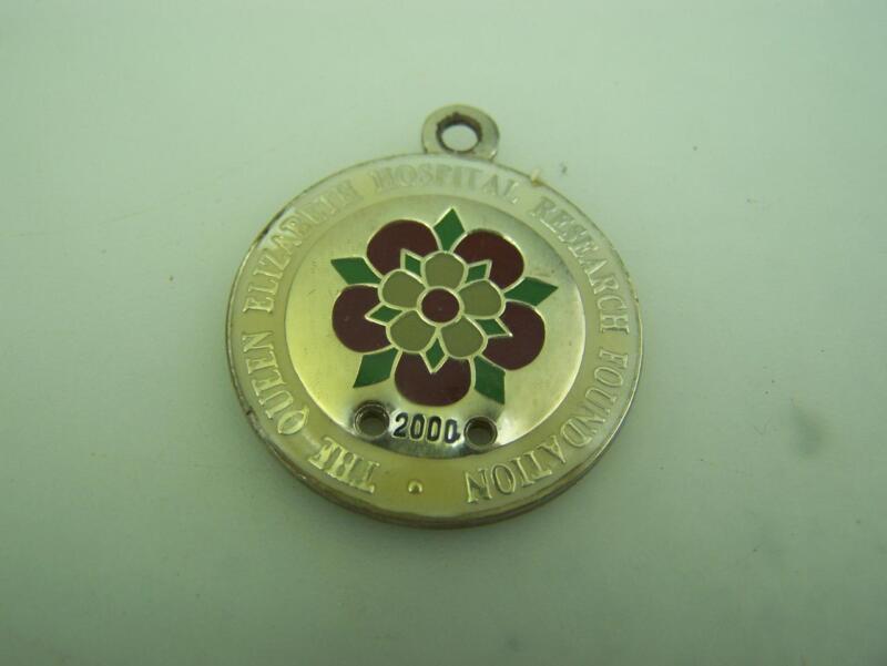 Enamel fob medallion 2000 Queen Elizabeth Hospital Research Foundation SA   1696