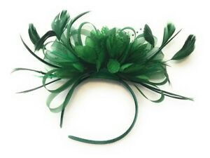 Emerald Jade Green Fascinator Headband Wedding Ascot Races