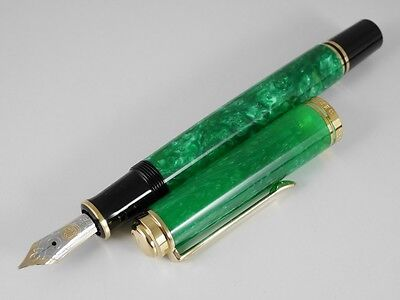 Pelikan SOUVERAN M600 Vibrant Green Fountain Pen NEW FREE SHIPPING WORLDWIDE