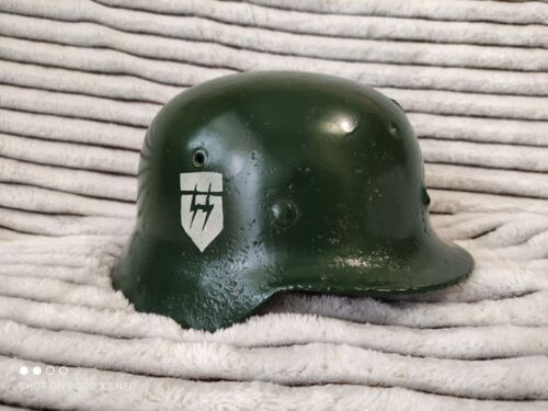 Vintage, Old, Rarity, Antique, WWII German Soldier Helmet, Militaria, Army