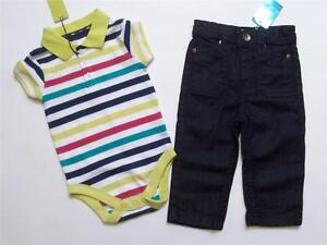 NEW BABY BOY M&S STRIPED BODY TOP JUNIOR J JASPER CONRAN JEANS 12-18 MONTH BNWT