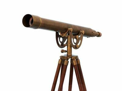 Anchor Master Telescope Floor Standing Brushed Nickel Style Nautical Collectible Antique Brushed Nickel Collection