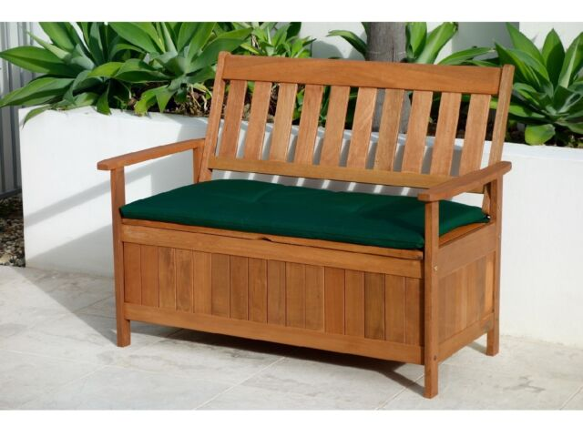New Outdoor Wooden Storage Box Chest And Bench Seat