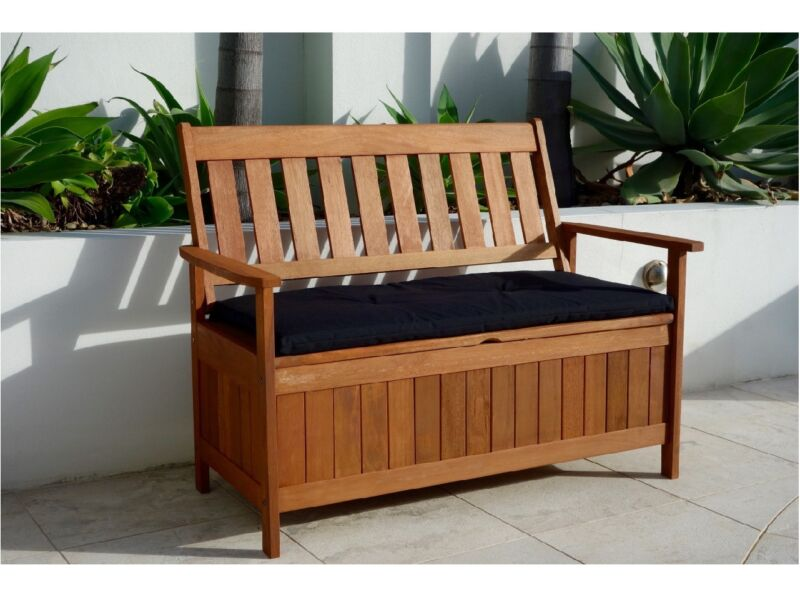 Storage Bench with Storage Box Outdoor Wooden Timber Bench Chair