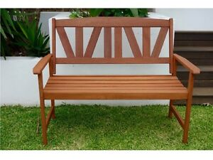 Outdoor Bench Seat: 2 Person Patio Timber Garden Bench Seat Murarrie Brisbane South East Preview