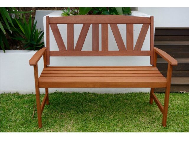 Outdoor bench seat 2 person patio timber garden bench for Outdoor furniture gumtree