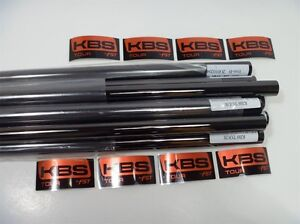 NEW KBS TOUR  BLACK NICKEL IRON SHAFTS 3-PW X-STIFF.355 TAPER
