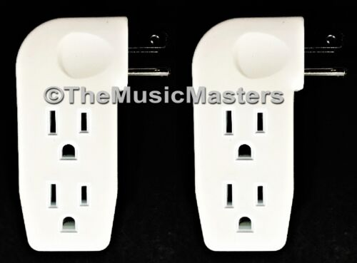 2X Triple 3 Outlet Grounded AC Wall Plug Power Splitter 3-Way Electrical Adapter