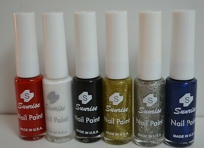 New Nail Art Polish 6 Colors Nail Painting Brush Bottle Nail Decor - Polish Decorations