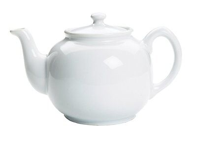 Fox Run Earthenware Teapot, 10 cups, White