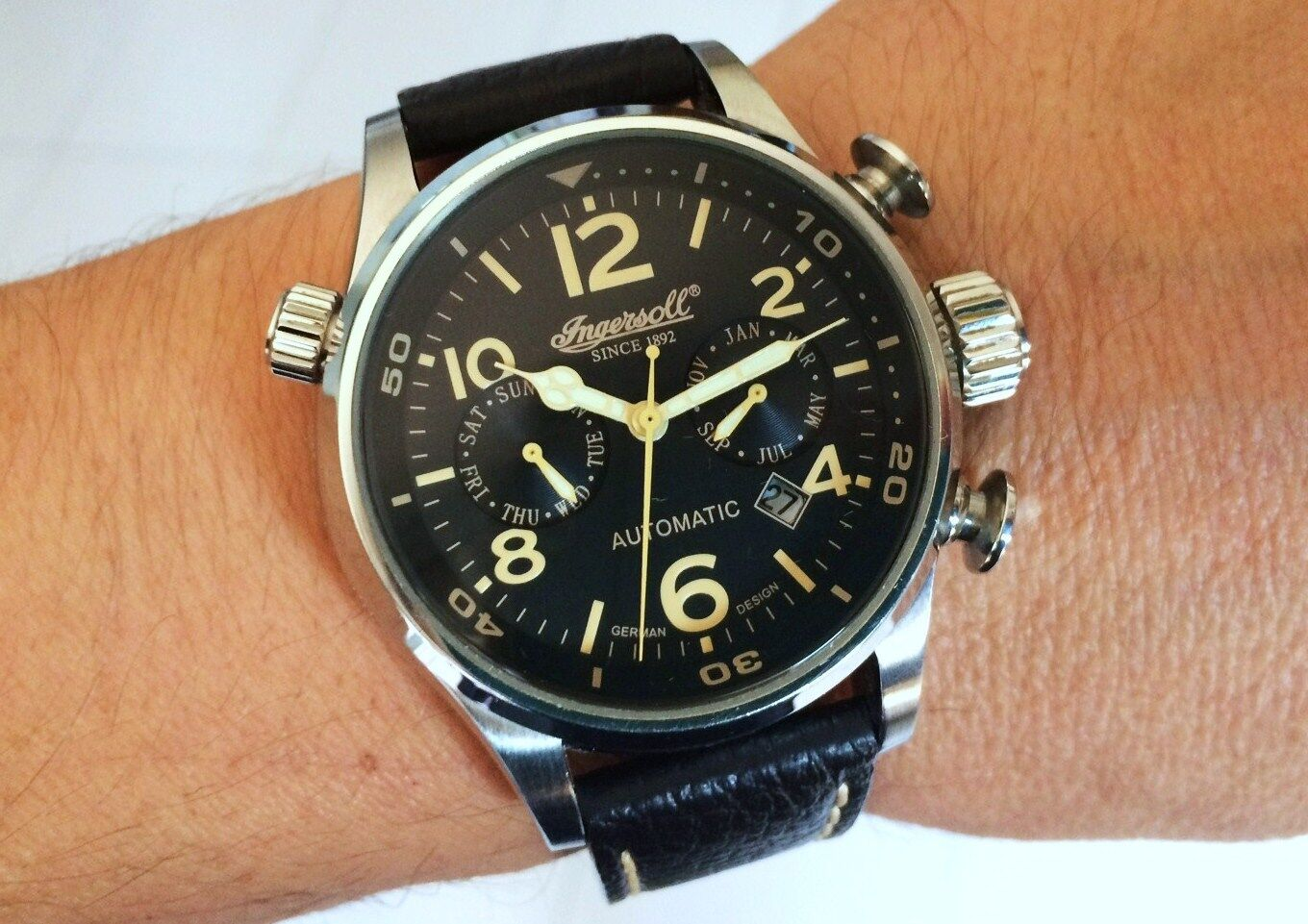 Orologio Ingersoll 1809 BULL RUN Automatic watch oversize 46mm militar style