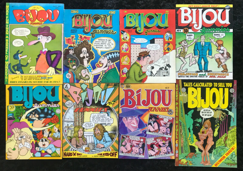 RARE Bijou Funnies #1 2 3 4 5 6 7 8 - 1st 2nd Print - Underground Comix R. Crumb
