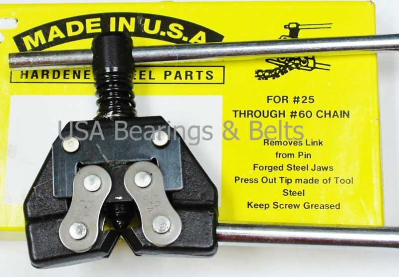 Chain Breaker Tool for 25 35 40 41  50  60 Roller Chain Made In USA