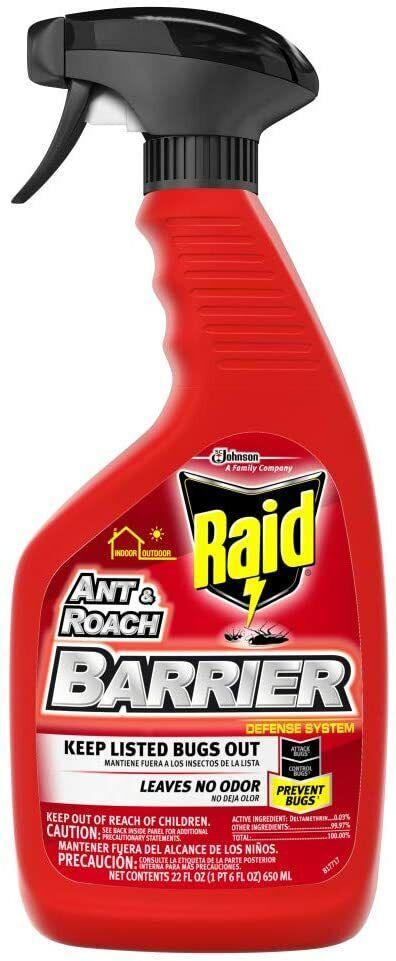 raid ant and roach barrier spray killer