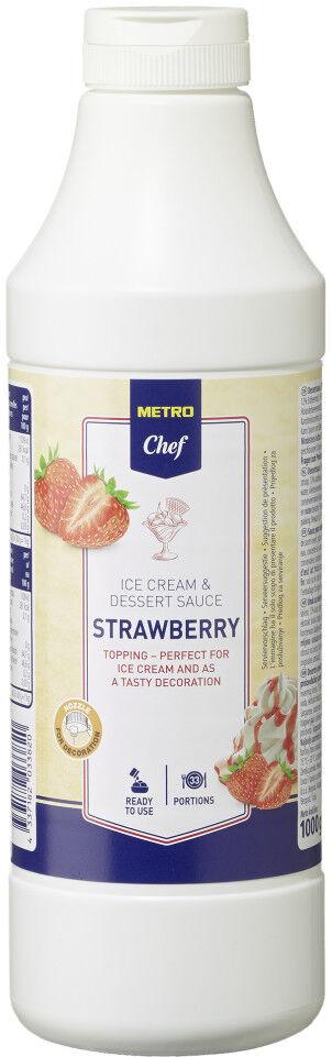 (1000g=6,99€) Horeca Eis Dessert Sauce Erdbeere 1 kg - Eissauce Erbeer