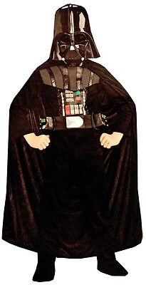 Photo Boy Star Wars DARTH VADER Costume Jumpsuit Cape Chest Box Mask Child Small 4 5 6